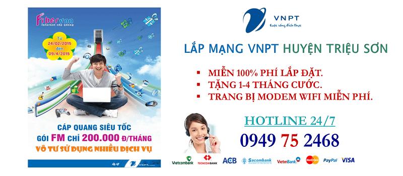 lắp mạng internet cáp quang VNPT Huyện Triệu Sơn, Thanh Hóa